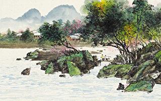 淇澳(彩墨)45.5×97cm (图片来源:画家提供)