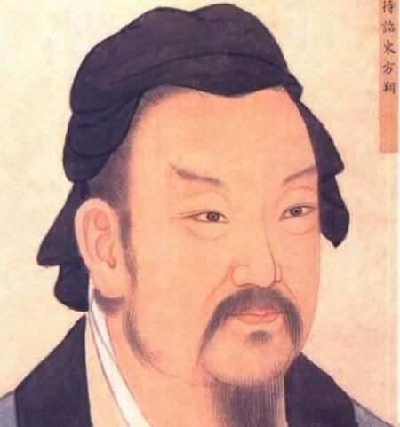 清殿藏本東方朔畫像。(公有領域)