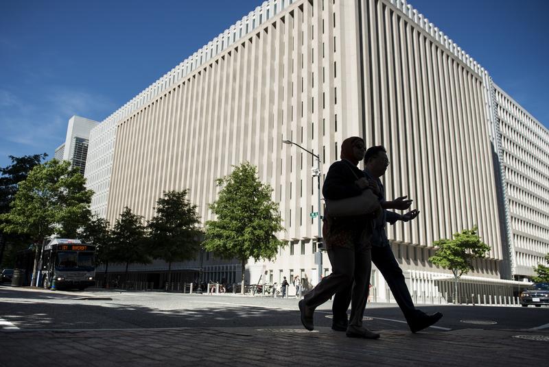 美國華盛頓DC的世界銀行總部大廈。(BRENDAN SMIALOWSKI/AFP/Getty Images)