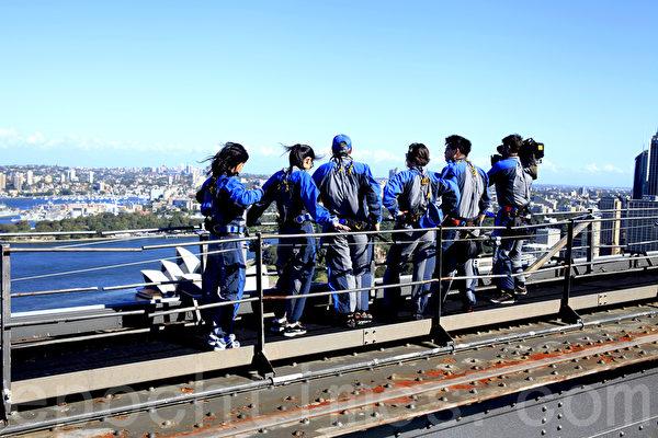 攀登到悉尼大橋頂端,將美景盡收眼底(袁麗/大紀元)