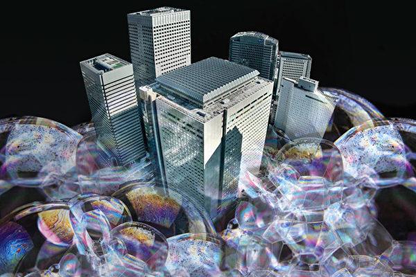 多個城市推出調控措施後,大陸房價和成交量大幅下滑。(大紀元合成圖片)