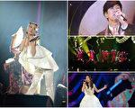 (左起)蔡依林、林俊傑、韓團VIXX、日本音凖美聲歌姬May J。(KKBOX/大紀元合成)