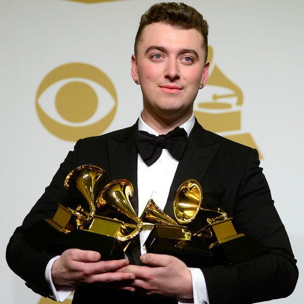 山姆‧史密斯囊括最佳年度唱片等4座大獎最風光。(Frazer Harrison/Getty Images)