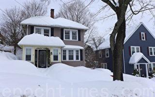 組圖:三場暴風雪後  波士頓變冰雪世界