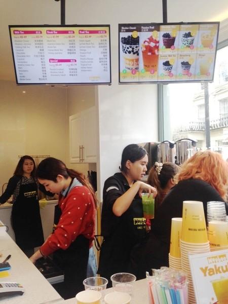 台灣珍珠奶茶進駐倫敦小唐人街