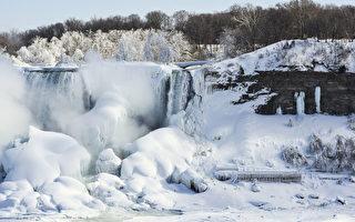 組圖:尼亞加拉大瀑布變冰瀑 如電影場景