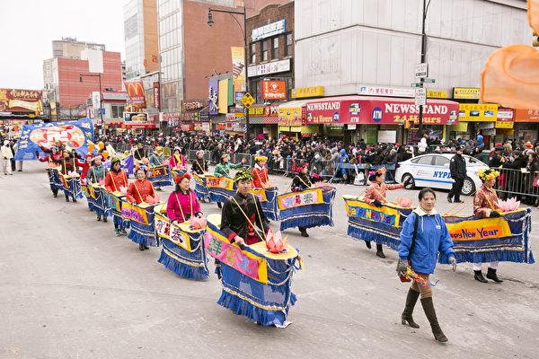 2015紐約中國新年大遊行。(戴兵/大紀元)
