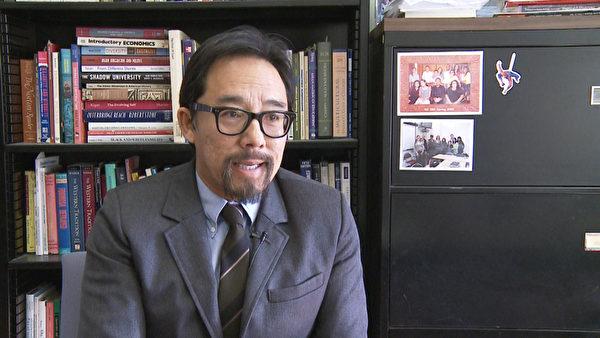 加州大学洛杉矶分校张孟杰教授谈亚裔学生如何应对一流大学入学难。(张文刚/大纪元)