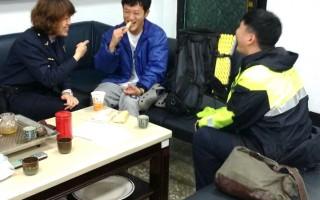 日籍大学生环岛迷途 湿冷中警伸援手