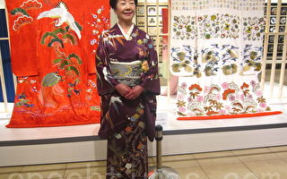 組圖:日本國寶刺繡大師草乃靜在臺首展