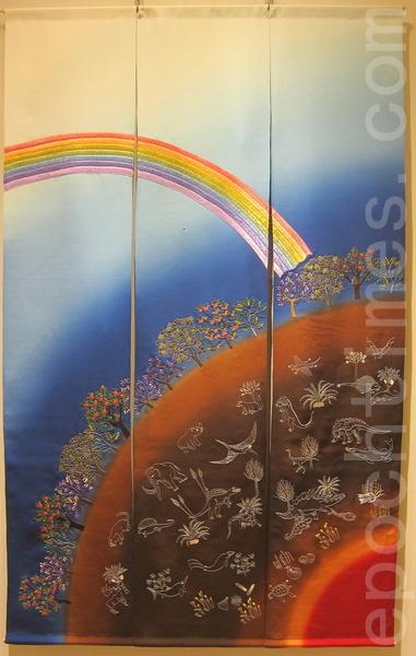 「在空中閃耀著光芒的生命」自紀元前人類留下了眾多文化遺產,這些是要傳達給現今的我們某些想法吧!就作為我們的心靈財產,如星空般永恆地閃爍著。(鍾元翻攝/大紀元)
