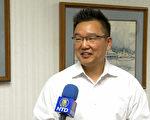 杜阿爾特市華裔副市長康佳琛談城市願景。(鄭浩/大紀元)