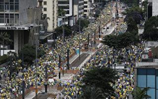 组图:巴西百万人大游行要求弹劾总统
