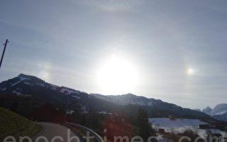 瑞士出現日暈奇觀