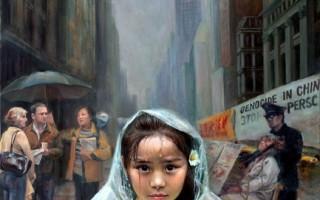 《雨中(純真的呼喚)》,陳肖平,油畫/帆布,66x92cm,2005