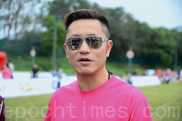 苏志威是本次慈善跑活动大使。(宋祥龙/大纪元)