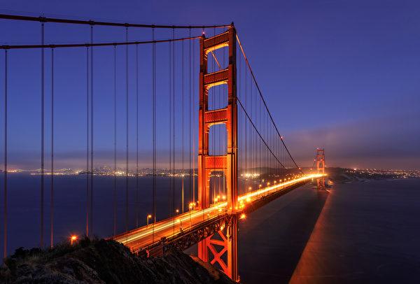 涼爽的夏季讓舊金山成為受歡迎的旅遊景點。圖為舊金山金門大橋。(Fotolia)
