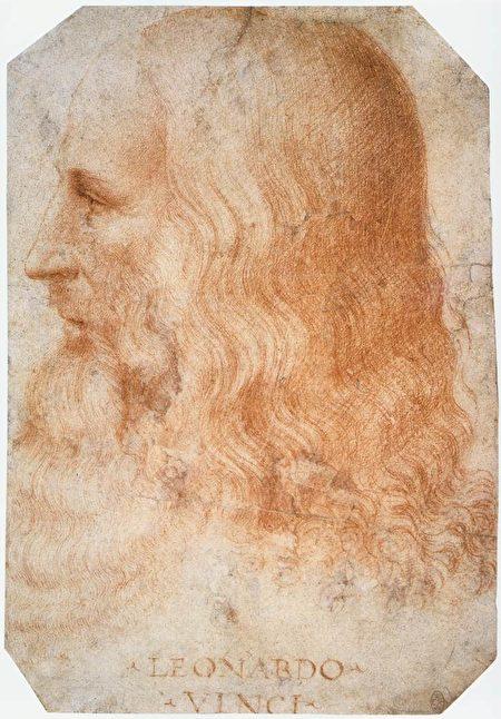 弗朗西斯‧梅爾齊繪製的達‧芬奇畫像。溫莎皇家圖書館藏。