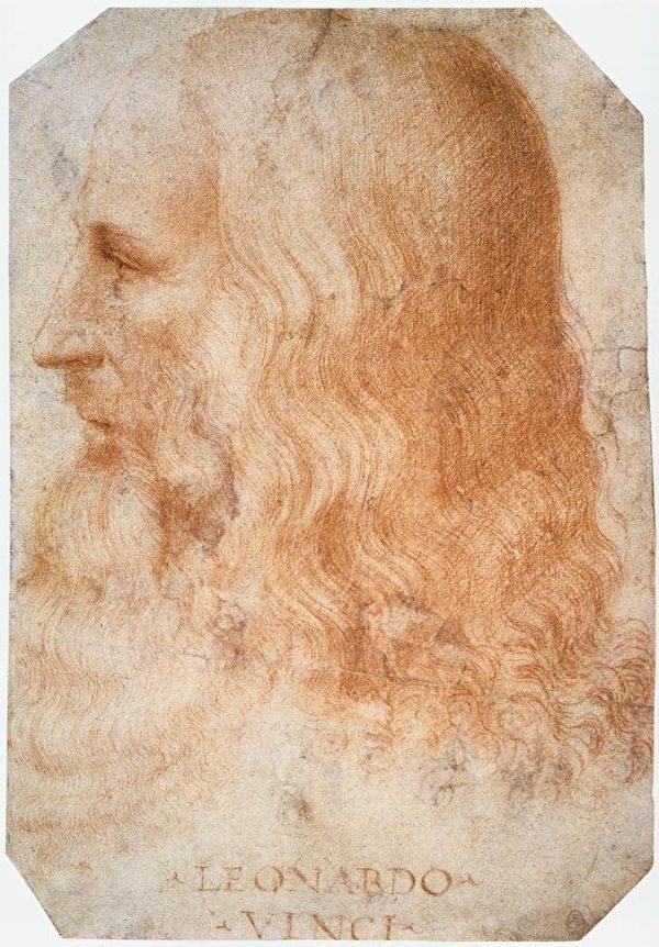 弗朗西斯‧梅尔齐绘制的达‧芬奇画像。温莎皇家图书馆藏。