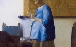 读信的蓝衣女子——寄一封思念给你
