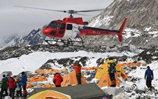 天候差阻碍救难 直升机陆续抵圣母峰