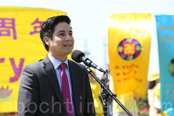 新民主黨國會議員洪‧麥(Hoang Mai)(大紀元圖片)