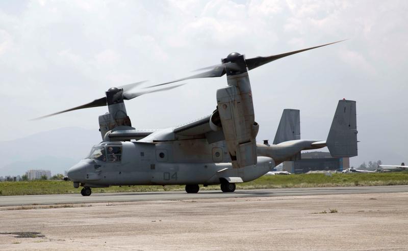 鱼鹰机失事2人亡 安全性依然受美军肯定