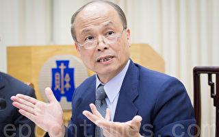 財政部長張盛和表示,將會委託學者研究適合的贈與稅稅率。(陳柏州/大紀元)
