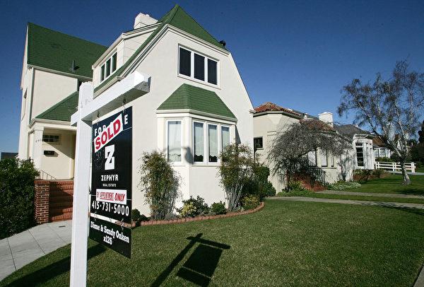 美國房價自2011年觸底以來、截至目前為止上漲25%。S&P Case-Schiller指數顯示,房價目前僅較2007年的頂點短少7.6%。(Photo by Justin Sullivan/Getty Images)