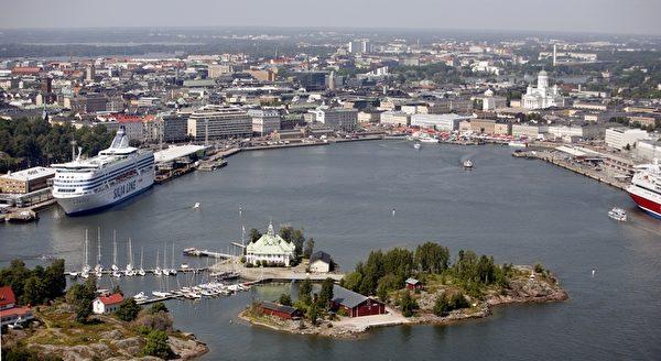 瀕臨波羅的海的芬蘭首都赫爾辛基,被讚美爲「波羅的海的女兒」。(PEKKA SAKKI/AFP)