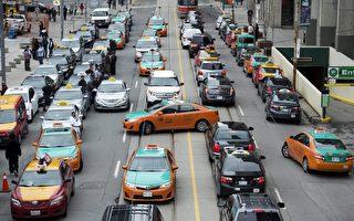 多伦多数百的士堵路  抗议优步抢生意