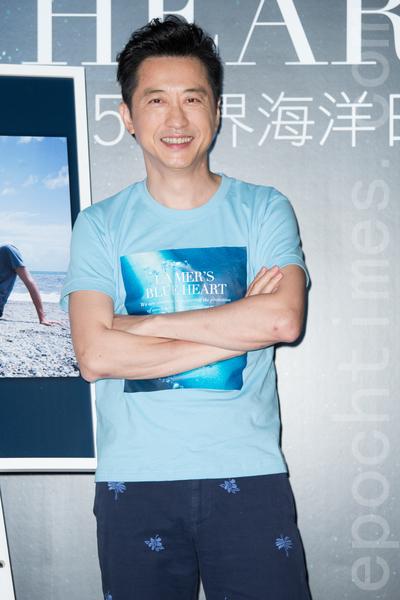 藝人庾澄慶(哈林)6月4日在台北出席保養品活動。(陳柏州/大紀元)