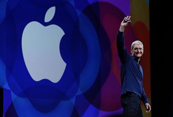 蘋果CEO蒂姆·庫克(Tim Cook)。(Justin Sullivan/Getty Images)