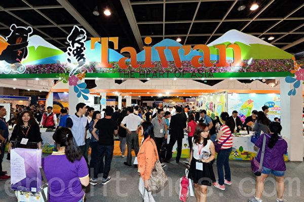 中华民国旅馆旅行业国际行销协会国际行销总监苏干亮表示,每年来港参展,都会为台湾旅游业带来商机和发展。(宋祥龙/大纪元)