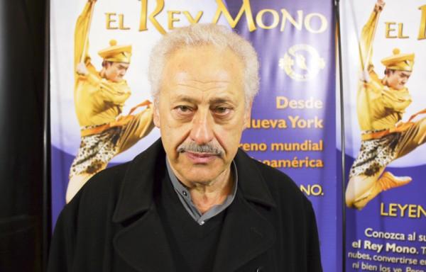 电影导演Juan José Jusid先生于6月12日晚在阿根廷首都布宜诺斯艾利斯的Opera剧院观看了神韵舞剧团的《西游记》演出。(新唐人)