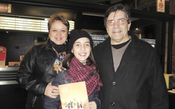 Fabian Gonzalez先生一家人于6月13日晚在阿根廷首都布宜诺斯艾利斯的Opera剧院观看了神韵舞剧团的《西游记》演出。(林南/大纪元)