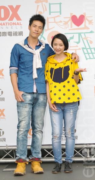 福斯、三立电视电影《结婚禁行曲》于2015年6月18日在台北举行开镜仪式。图为林惟毅(左)、林昱秀。(黄宗茂/大纪元)