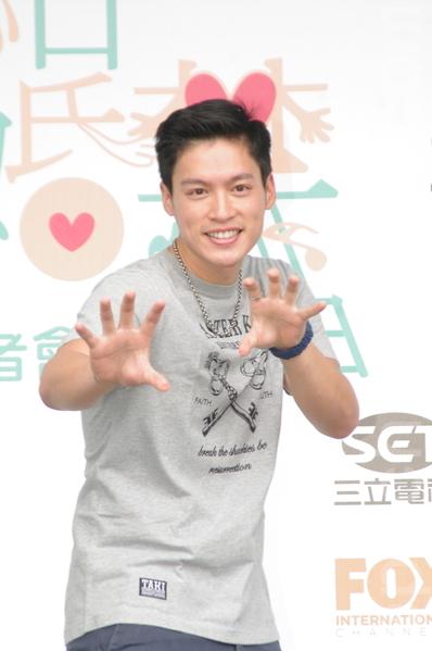 福斯、三立电视电影《结婚禁行曲》于2015年6月18日在台北举行开镜仪式。图为许孟哲。(黄宗茂/大纪元)