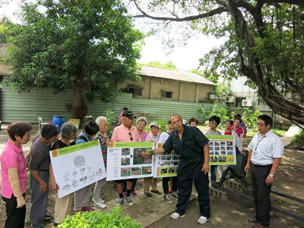 環保局向社區說明104年度嘉義市社區規畫師駐地環境改造計畫。(嘉義市政府提供)