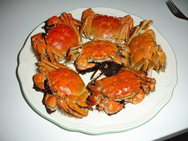 大閘蟹在中國十分受歡迎。(維基百科公共領域)