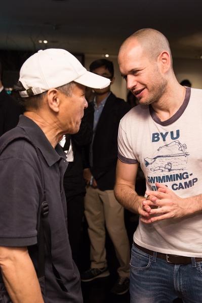 以《吾爱吾诗》获得国际新导演竞赛最佳影片大奖的以色列导演那达夫‧拉匹对于侯导的电影作品如数家珍。(台北电影节提供)