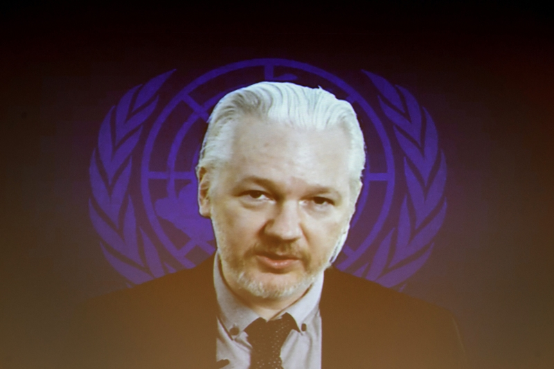 維基解密創始人阿桑奇資料圖。(FABRICE COFFRINI/AFP/Getty Images)