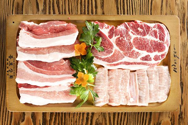 猪肉拼盘。(张学慧/大纪元)