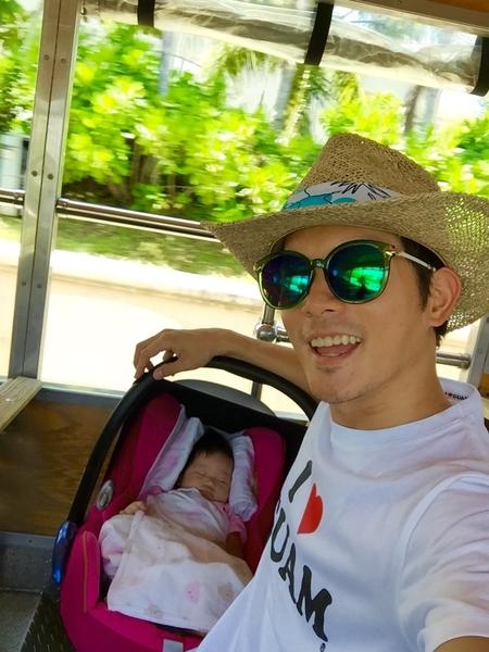 宥勝關島想要托嬰,無奈女兒不答應。(怡佳娛樂提供)