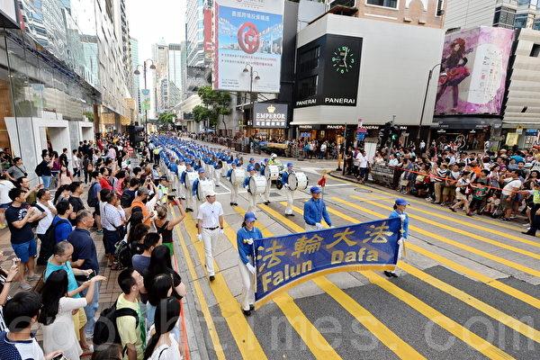 现场实录:香港大游行 吁法办江泽民