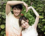 张庭瑚(左)与杨可涵(艺名杨可凡)因合作《新世界》结缘而相恋。(台视提供)