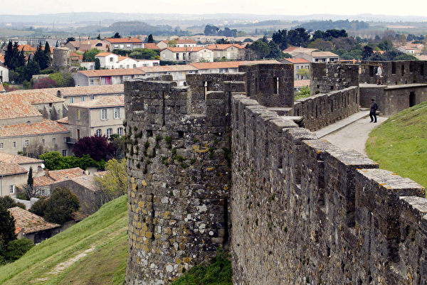世界遺產法國中世紀卡爾卡松城堡。(JEAN-LOUP GAUTREAU/AFP)