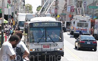 """旧金山公交车司机""""集体请假"""" 2年内6%涨薪成真"""