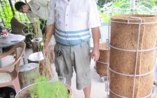 20年椰创人生  林达龙开发椰丝盆栽