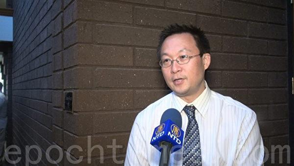 美国内科医生、医学博士邬西普呼吁华人移民定期检查,早发现早治疗肝炎。(薛文/大纪元)